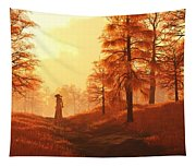 Dusk Approaches In Sleepy Hollow Tapestry
