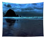 Dusk At Cannon Beach Tapestry