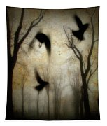 Dusk Begins As The Crows Fly Tapestry