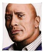Dwayne Johnson Color Tapestry