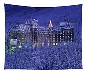 D.wiggett Banff Springs Hotel In Winter Tapestry
