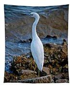 Eager Egret Tapestry