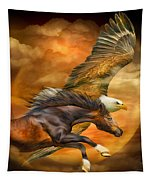 Eagle And Horse - Spirits Of The Wind Tapestry