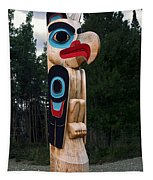 Eagle Clan Totem Pole Tapestry