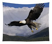 Eagle Flying In Sunlight Tapestry