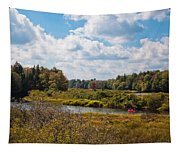 Early Autumn At The Tobie Trail Bridge Tapestry