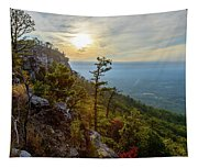 Early Autumn On Pilot Mountain Tapestry