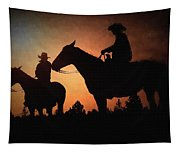 Early Morning Cowboys Tapestry