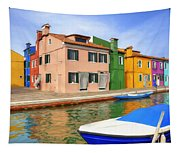 Early Morning In Isola Di Burano Tapestry