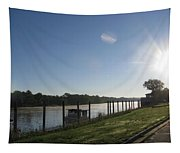 Early Morning On The Savannah River Tapestry
