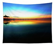 Early Morning Rays Over The Boat House Tapestry