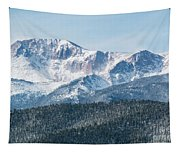 Early Morning Snow On Pikes Peak Tapestry