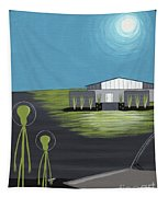 Early Painting Father And Son Aliens Tapestry