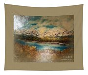 Early Winter Mountain Range Tapestry