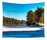Early Winter On Old Forge Pond Tapestry