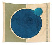 Earth And Moon Graphic Tapestry