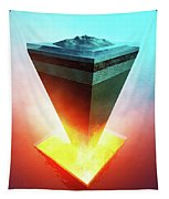 Earth Core Structure Cross-section Tapestry
