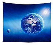 Earth Sunrise Deep Space Tapestry
