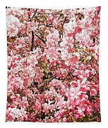 Earth Tones Apple Blossoms  Tapestry