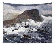Earthquake And Tidal Wave Tapestry