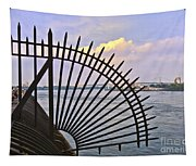 East River View Through The Spokes Tapestry