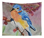 Eastern Bluebird Vertical  Tapestry