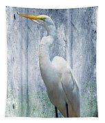 Eastern Great Egret Ardea Alba Modesta Tapestry