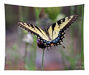Eastern Tiger Swallowtail Butterfly In Garden 2016 Tapestry
