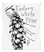 Eastern White Pine Cone On A Branch Tapestry