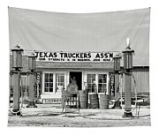 Edcouch Texas Gas Station 1939 Tapestry