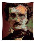 Edgar Allan Poe Artsy 2 Tapestry
