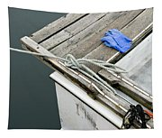 Edgartown Fishing Boat Tapestry
