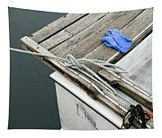 Edgartown Fishing Boat Tapestry