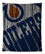 Edmonton Oilers Wood Fence Tapestry