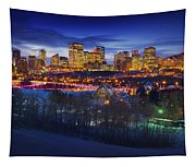 Edmonton Winter Skyline Tapestry