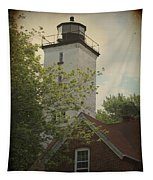 Erie Lighthouse 1872 Tapestry