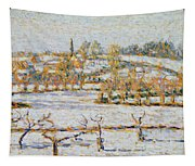 Effect Of Snow At Eragny Tapestry