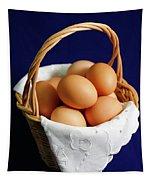 Eggs In A Wicker Basket. Tapestry