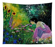 Eglantine With Flowers Tapestry