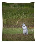 Egret In A Field, No. 1 Tapestry