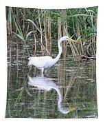 Egret On The Hunt Tapestry