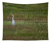 Egrets In A Field Tapestry