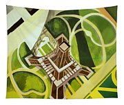 Eiffel Tower And Jardin Du Champ De Mars Tapestry