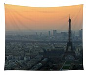Eiffel Tower At Dusk Tapestry