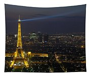 Eiffel Tower At Night Tapestry