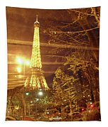 Eiffel Tower By Bus Tour Tapestry