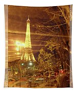 Eiffel Tower By Bus Tour Greeting Card Poster Tapestry