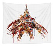 Eiffel Tower Watercolor Tapestry