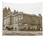 El Carmelo Bakery Lighthouse And Forest Ave. Circa 1890 Tapestry