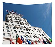 El Cortez With Flags Tapestry